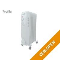 Profile oliegevulde mobiele radiator Fogo Midi