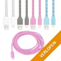 Gevlochten Lightning USB-kabel 2 meter