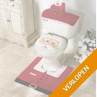 Kerstman toilet set
