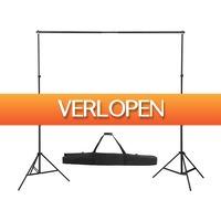 VidaXL.nl: Achtergrondsysteem telescopisch 155-300 cm