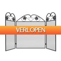 VidaXL.nl: vidaXL haardscherm 3 panelen ijzer