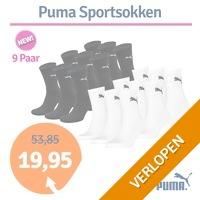 9 paar Puma sportsokken