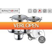 VoucherVandaag.nl: 12-delige Royalty Line pannenset
