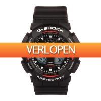 Watch2Day.nl 2: Casio G-Shock Black Chronograph GA-100-1A4ER herenhorloge