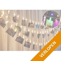 LED lichtslinger voor foto's of kerstkaarten