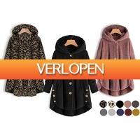 VoucherVandaag.nl: Fleece damesvest met capuchon
