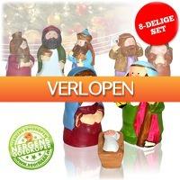 voorHAAR.nl: Vrolijke 8-delige kerstfigurenset