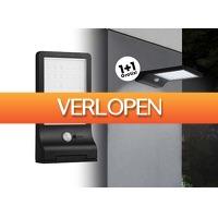 DealDonkey.com: Hofftech solar LED wandlamp met sensor 1+1 Gratis