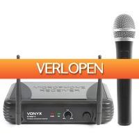 MaxiAxi.com: Vonyx STWM711 Draadloze VHF microfoon 1-kanaals met handmicrofoon