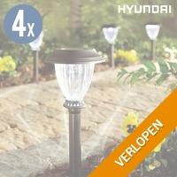 4-pack Hyundai solar tuinlampen XL