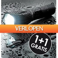 6deals.nl: 2-pack waterdichte LED zaklamp