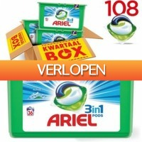 Plein.nl: 3 x Ariel wasmiddel 3-in-1 pods Alpine