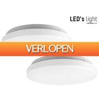 iBOOD Home & Living: 2 x LED's Light LED plafonniere