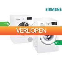 iBOOD Electronics: Siemens wasmachine en warmtepompdroger | WM14T473NL | WT43RV30NL