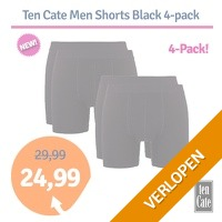 Ten Cate Men Shorts Black 4-pack