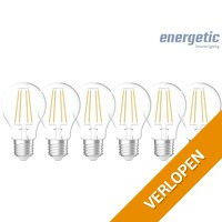 6 x Energetic filament lamp