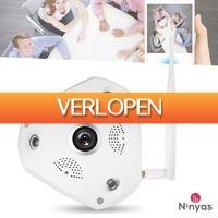 Daystunt.com: Ninyas 360 graden Panoramische WIFI Camera met fisheye lens en bewegingsdetectie