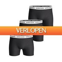 Plutosport offer: 3 x Bjorn Borg Contrast Solids boxershorts