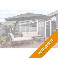 Veiling: Donkergrijze zweefparasol van Feel Furniture