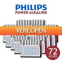 DealDigger.nl: 72 stuks Philips Power Alkaline AA of AAA batterijen
