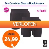 1dagactie.nl: Ten Cate Men Shorts Black 4-pack