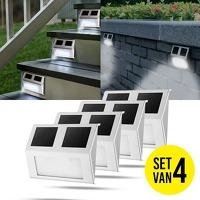 Bekijk de deal van DealDigger.nl 2: 4 stuks RVS Solar LED-buitenlampen