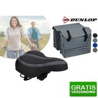 Bekijk de deal van VoucherVandaag.nl: Dunlop fietszadel en -tassen