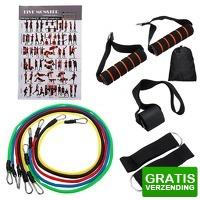 Bekijk de deal van Dennisdeal.com 3: Natuurlijke rubber latex Fitness weerstandsbanden