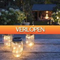 HomeHaves.com: 3 LED solar lampen in pot Detroit