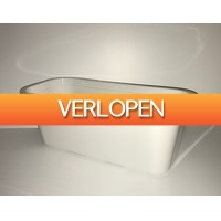 Grotekadoshop.nl: Bloembak wit lengte 50cm
