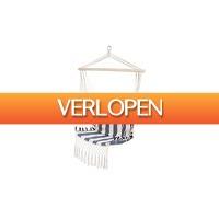 VakantieVeilingen: Veiling: blauw-wit-gestreepte hangstoel van Lifa Garden