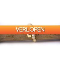 VakantieVeilingen: Veiling: Goldplated verstelbare ring met zirkonia's van Di Lusso