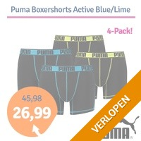 Puma boxershorts Active Blue/Lime