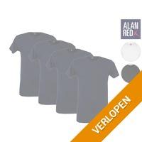 4 x Alan Red Basic T-shirt
