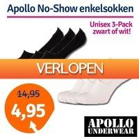 1dagactie.nl: 3-pack Apollo No-Show enkelsokken
