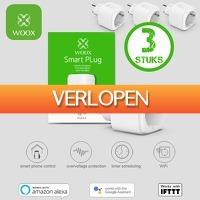 6deals.nl: 3 x WOOX Smart Home stekkers