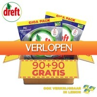 6deals.nl: 180 x Dreft All in One Platinum afwastabs