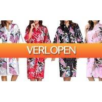 Groupon 1: Zijden kimono-jurk