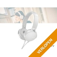 Sony MDR-XB550 extra bass koptelefoon - wit