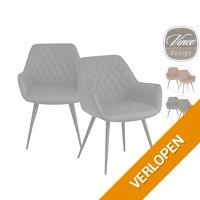 2 x Vince Design Cose eetkamerstoel