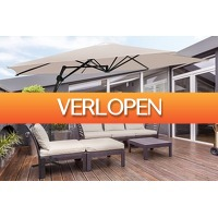 VakantieVeilingen: Veiling: Feel Furniture creme zweefparasol