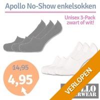3-pack Apollo No-Show enkelsokken