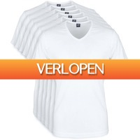 Suitableshop: 6-pack witte T-shirts