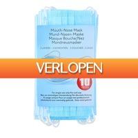 Voordeeldrogisterij.nl: 10 x mondkapjes 3 lagen