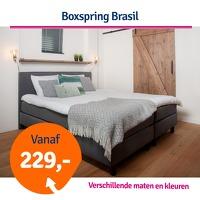 Bekijk de deal van 1dagactie.nl: Boxspring Brasil