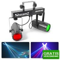 Bekijk de deal van MaxiAxi.com: BeamZ 2-Some Lichtset 2x 57 RGBW LED's met afstandsbediening