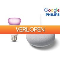 iBOOD Electronics: Google Nest Smart speaker + Philips Hue lamp