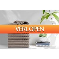 VakantieVeilingen: Veiling: 8 luxe taupe handdoeken van EMSA Bedding (50 x 100 cm)