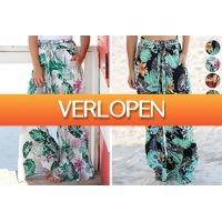 VoucherVandaag.nl 2: Wijde tricot broek met print