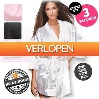 voorHAAR.nl: Heerlijke satijnen kimono
